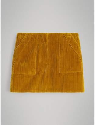 Burberry Corduroy A-line Skirt