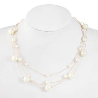 MONET JEWELRY Monet Jewelry Womens White Illusion Necklace