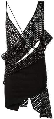 Anthony Vaccarello woven asymmetric dress