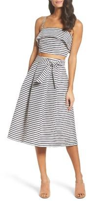 Women's Bb Dakota Grace Stripe Two-Piece Dress $250 thestylecure.com