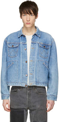 Wrangler B Sides Indigo Cropped Vintage Denim Jacket