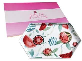 Rosanna Watermelon Hexagon Tray