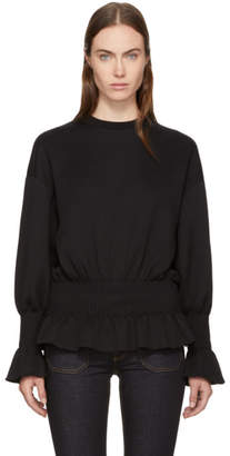 Stella McCartney Black Ruffle Crewneck Sweatshirt
