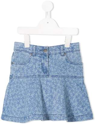 Stella McCartney star print denim skirt