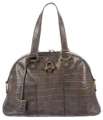 Saint Laurent Crocodile Muse Bag