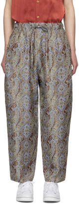 Needles Grey and Purple Paisley Easy Lounge Pants
