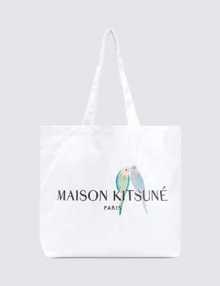 MAISON KITSUNÉ Lovebirds Tote Bag