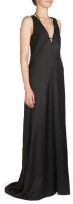 Cédric Charlier Plunging V-Neck Gown