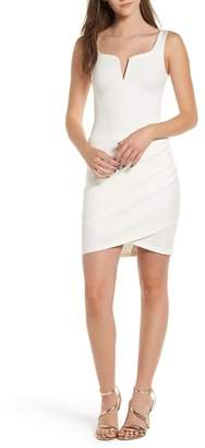 TIGER MIST Ruched Body-Con Dress