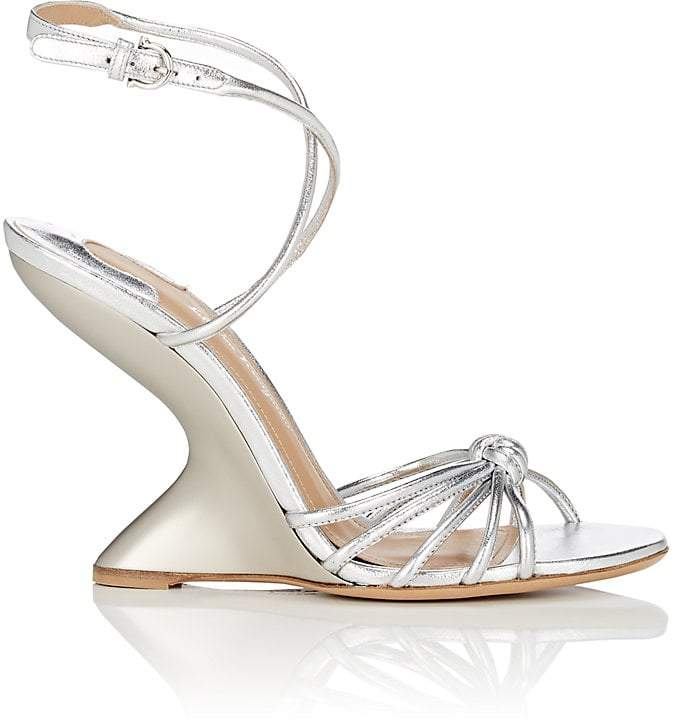 Salvatore Ferragamo Women's Sculpted-Heel Leather Ankle-Strap Sandals