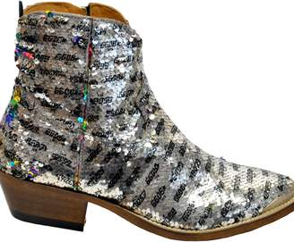 Golden Goose Sequins Ankle Boots