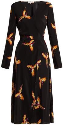 Diane von Furstenberg Tilly parrot-print silk crepe de Chine wrap dress