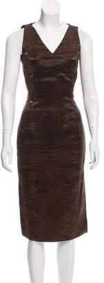 John Galliano Printed Satin Dress