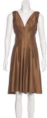 Alberta Ferretti Embellished Knee-Length Dress