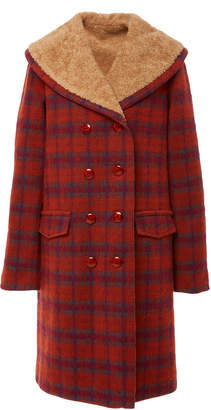 Anna Sui Brushed Tartan Jacket