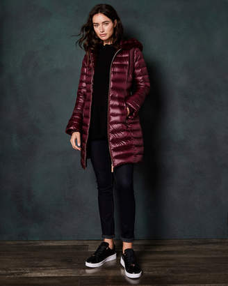 Ted Baker YANDLE Long down coat with hood