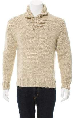 Polo Ralph Lauren Wool & Linen-Blend Shawl Sweater