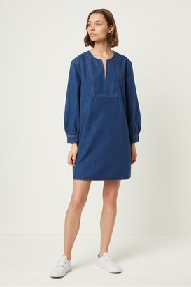 French Connection Luna Jule Contrast Stitch Dress