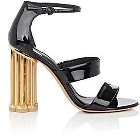 Salvatore Ferragamo Women's Caged-Heel Patent Leather Sandals - Black