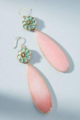 Anthropologie Petal Play Drop Earrings