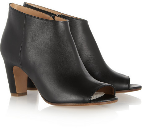 Maison Martin Margiela Open-toe leather ankle boots