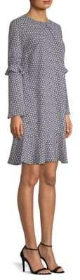 MICHAEL Michael Kors Carnation Bell-Sleeve Dress
