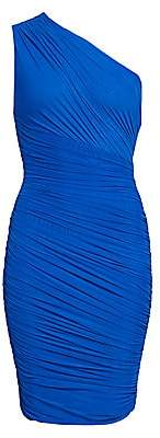 Herve Leger Women's One Shoulder Tulle Draped Bodycon Dress