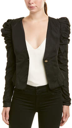 Sipaiya Pleated Puff-Sleeve Jacket