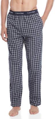 Calvin Klein Navy Check Pajama Pants