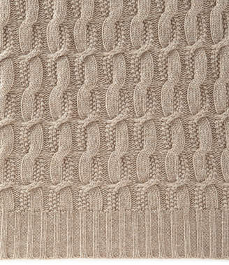 Sofia Cashmere Seed-Stitch Cable Throw