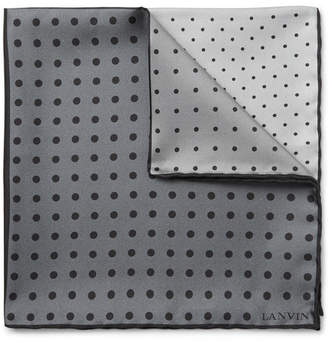 Lanvin Polka-Dot Silk-Twill Pocket Square