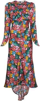 ATTICO Floral Print Midi Dress