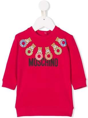 Moschino Kids donut bear print sweatshirt
