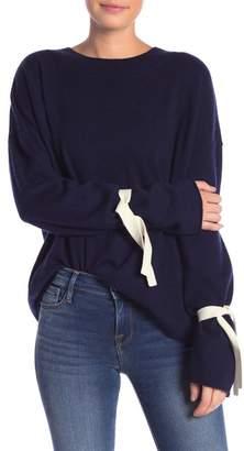 Frame Tie Sleeve Wool Blend Sweater