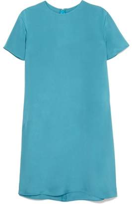 Valentino Two-tone Silk Mini Dress