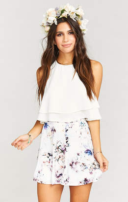 Show Me Your Mumu Skater Stretch Skirt ~ Bouquet Beauty