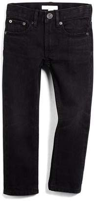 Burberry Skinny Five-Pocket Faded Denim Jeans, Black, Size 4Y-14Y