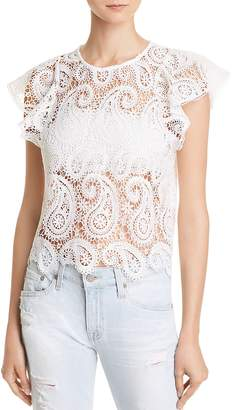 Lucy Paris Paisley Lace Top