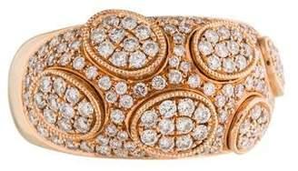 Ring 18K Pavé Diamond Domed