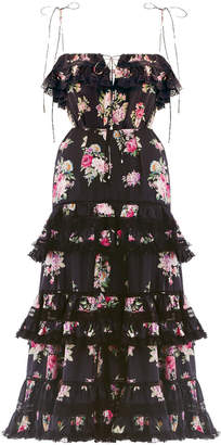 Zimmermann Honour Tiered Tie Dress