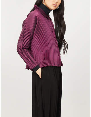 Issey Miyake Circle-pleated wide-sleeved jacket