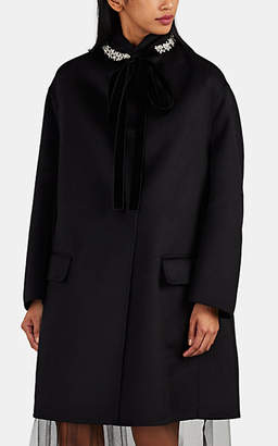 Prada Women's 2-In-1 Wool-Blend Coat - Black