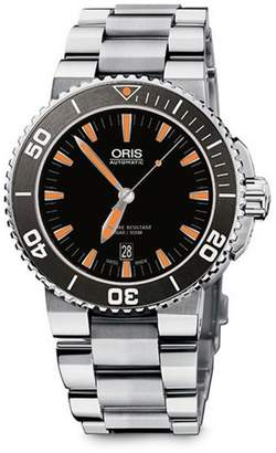 Aquis Date Stainless Steel Watch