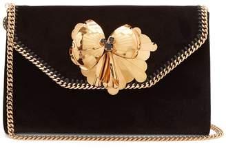 Stella McCartney Falabella Box velvet clutch