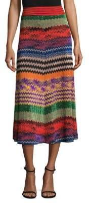 Zig Zag Midi Skirt