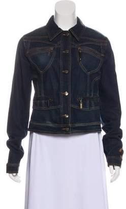 Just Cavalli Denim Long Sleeve Jacket