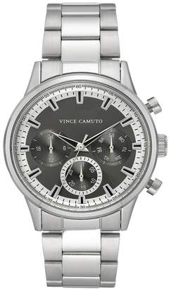 Vince Camuto Men's Silver-Tone Stainless Steel Bracelet Watch, 43mm