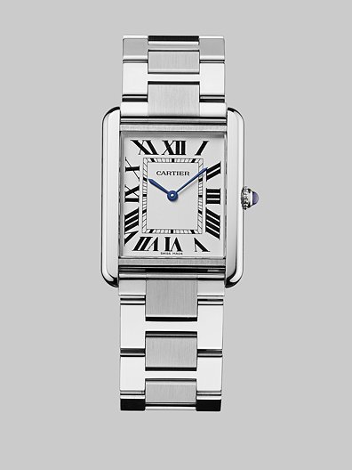 Cartier Tank Solo Stainless Steel Watch on Bracelet, Large