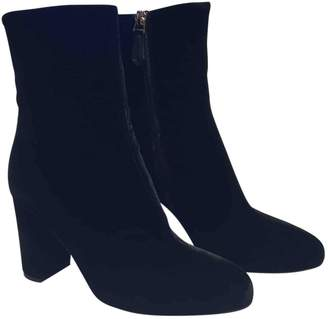 Brian Atwood Velvet Ankle Boots