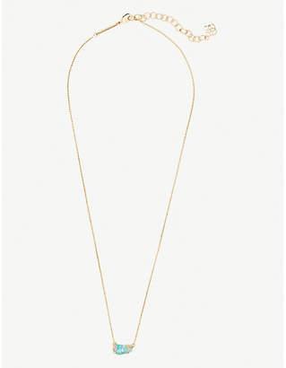 Kendra Scott Jayde 14ct gold-plated brass and Aqua Kyocera Opal necklace